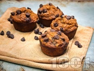 Рецепта Пухкави мъфини с шоколадови парченца